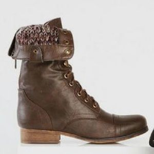 Madden Girl Gizmoo Brown Boots